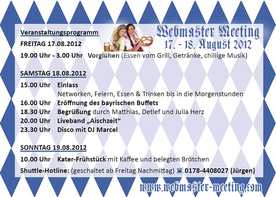 Programm Webmaster-Meeting 2012