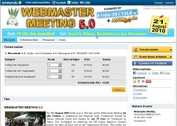 Webmaster Meeting Ticketverkauf